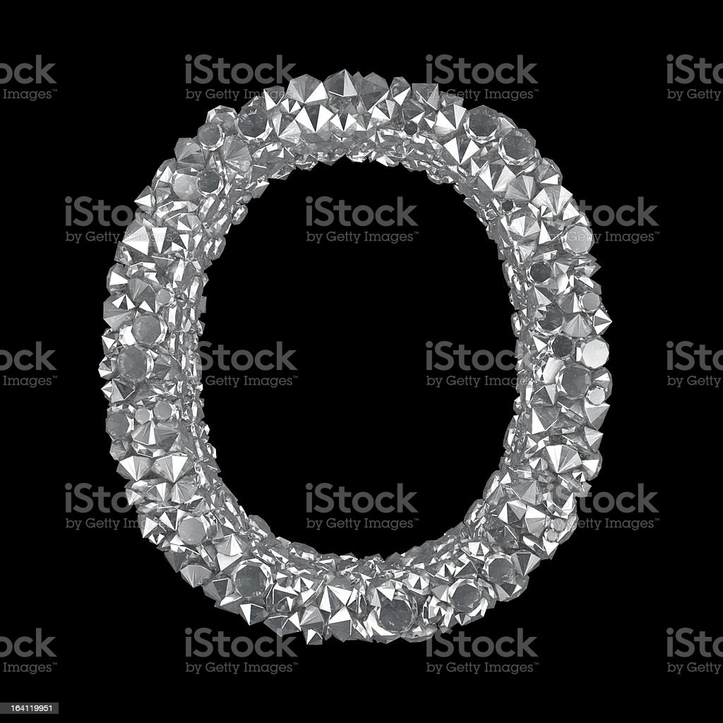 Diamond Letter O royalty-free stock photo
