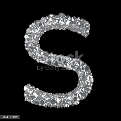 A series of diamond letters and digits, Letter S