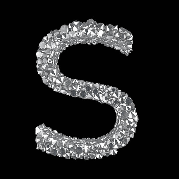 Diamond Letter S stock photo