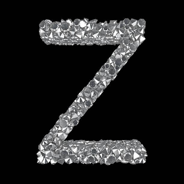 Diamond Letter Z stock photo