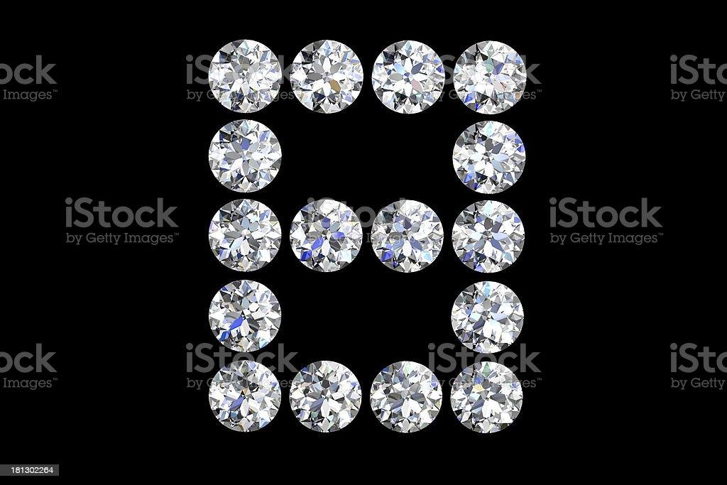 diamond letters royalty-free stock photo