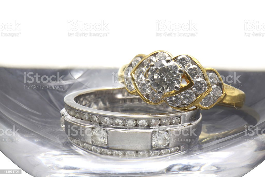 Diamond Luxury Wedding Ring royalty-free stock photo