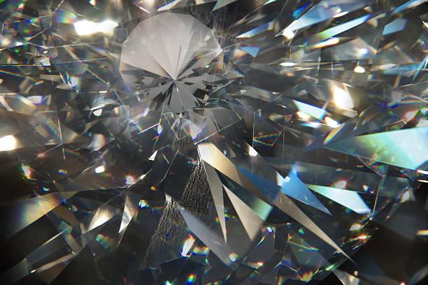 diamond macro shapes - lichtbreking stockfoto's en -beelden