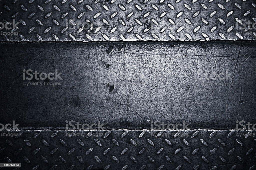 diamond metal plate background stock photo