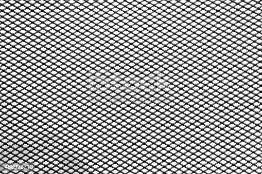 istock diamond metallic grill background isolated over white 486992710