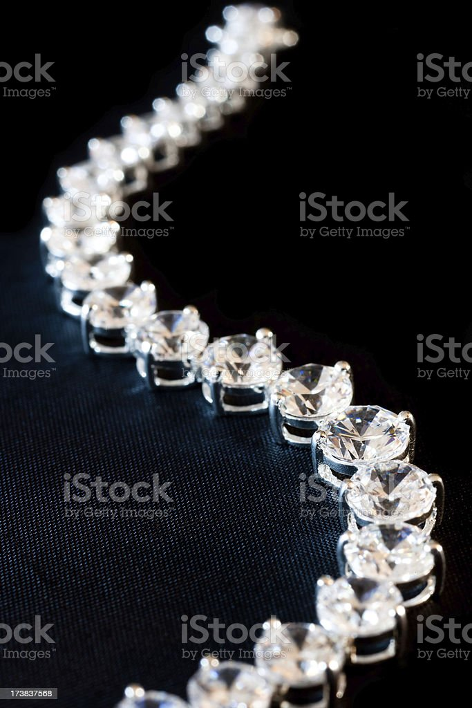 diamond necklace with textured background royalty-free stock photo