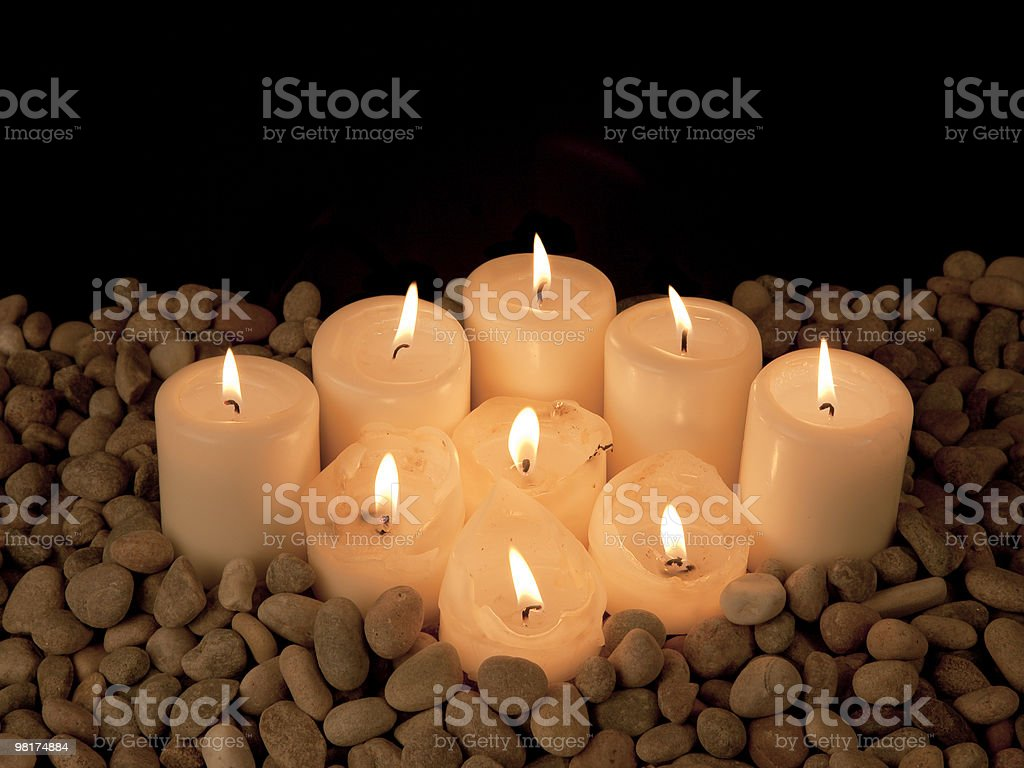 Diamond of candles royalty-free stock photo