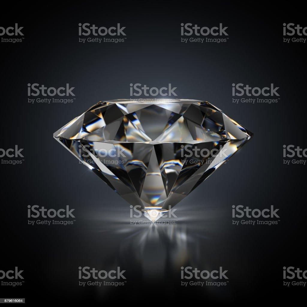diamond on a black background стоковое фото