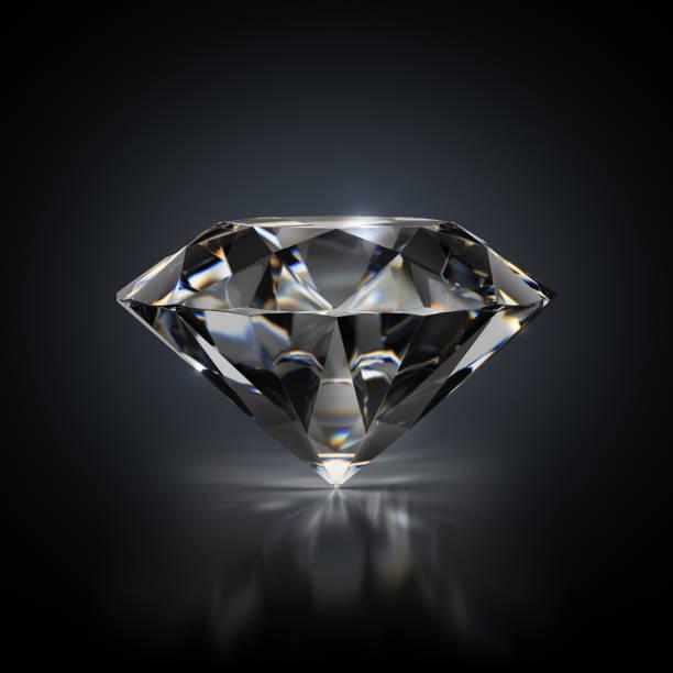 diamante sobre fondo negro - brillante fotografías e imágenes de stock