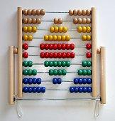 Diamond shape made with abacus beads