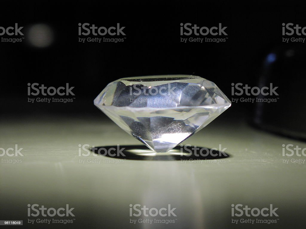 diamond on end royalty-free stock photo
