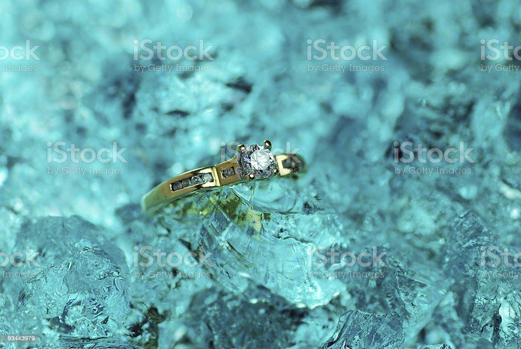 Diamond auf Eis Lizenzfreies stock-foto