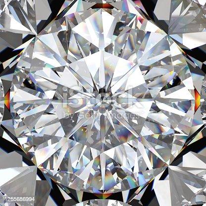Diamond on jewelry background. 3d illustration