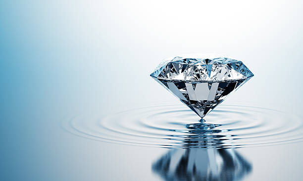 Diamond On The Water stock photo