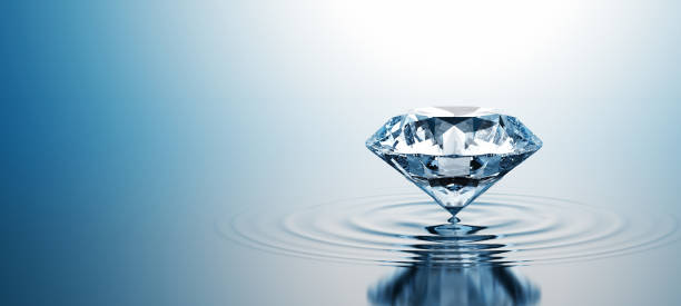 Diamond On The Water Wide stock photo
