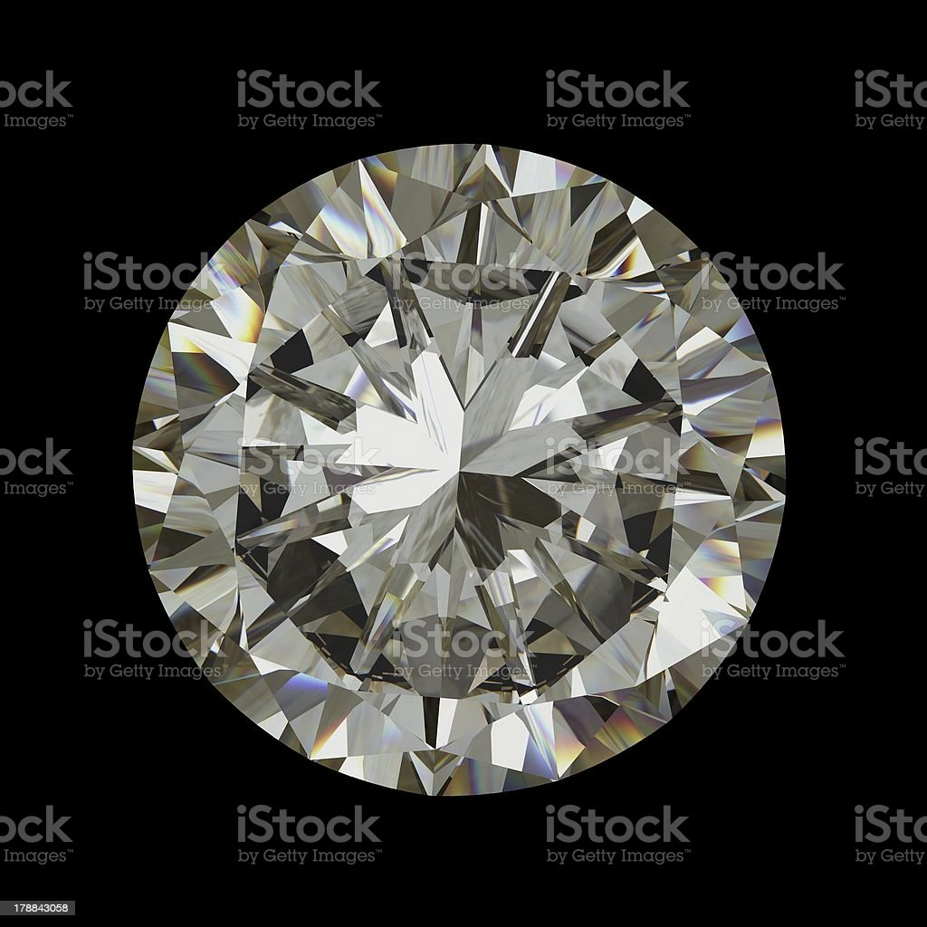 diamond on white background with high quality stock photo