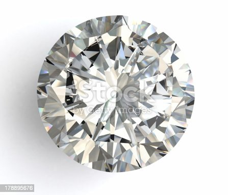 istock diamond on white background with high quality 178895676