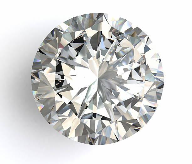 diamanti su sfondo bianco con alta qualità - brillante foto e immagini stock
