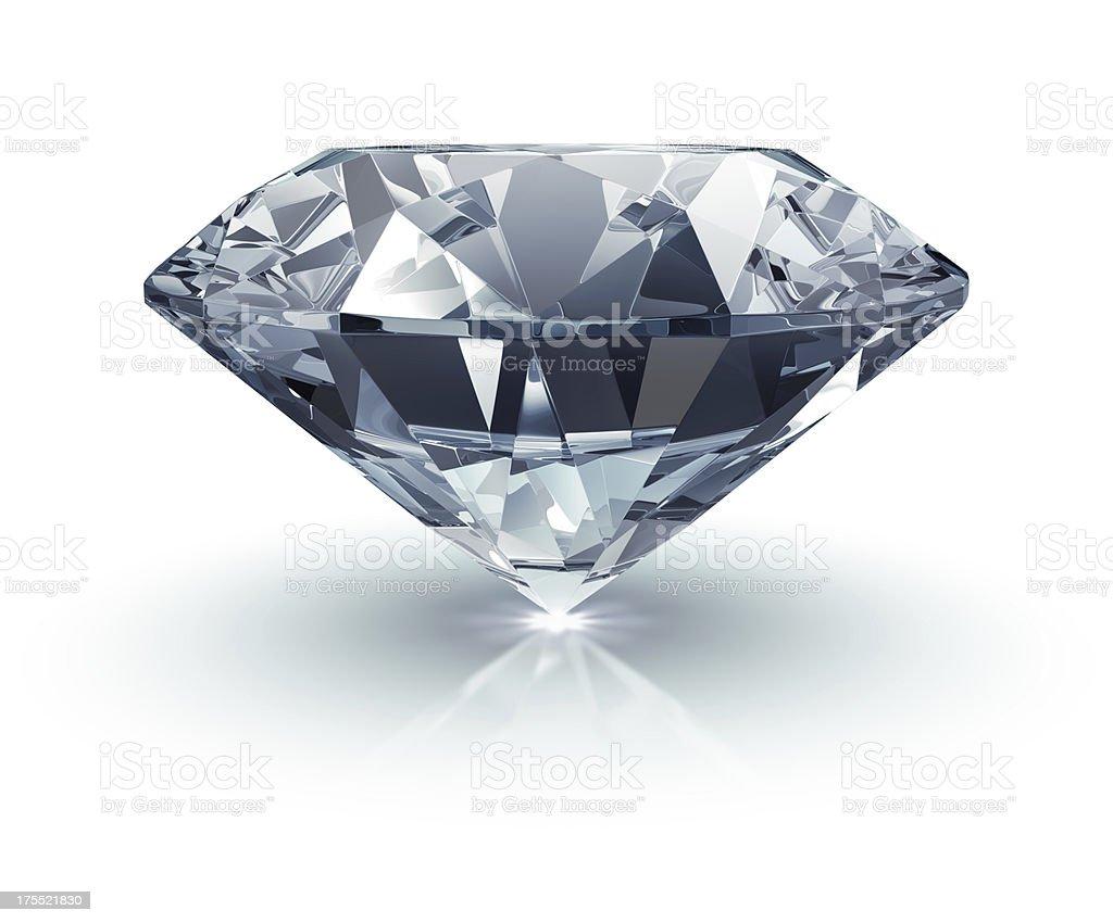 Diamond on White stock photo
