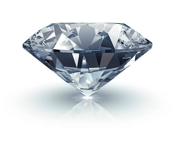 Diamanten auf Weiß – Foto