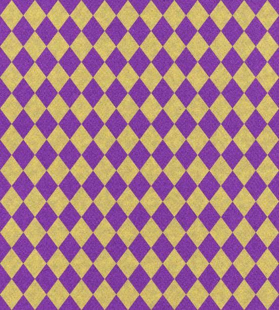 padrão de losangos arte papel - mardi gras - fotografias e filmes do acervo