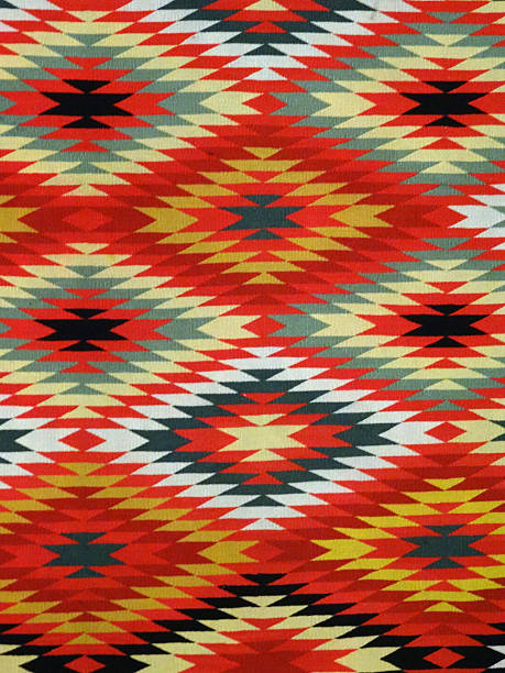 diamond pattern blanket rug - navajo culture stock photos and pictures