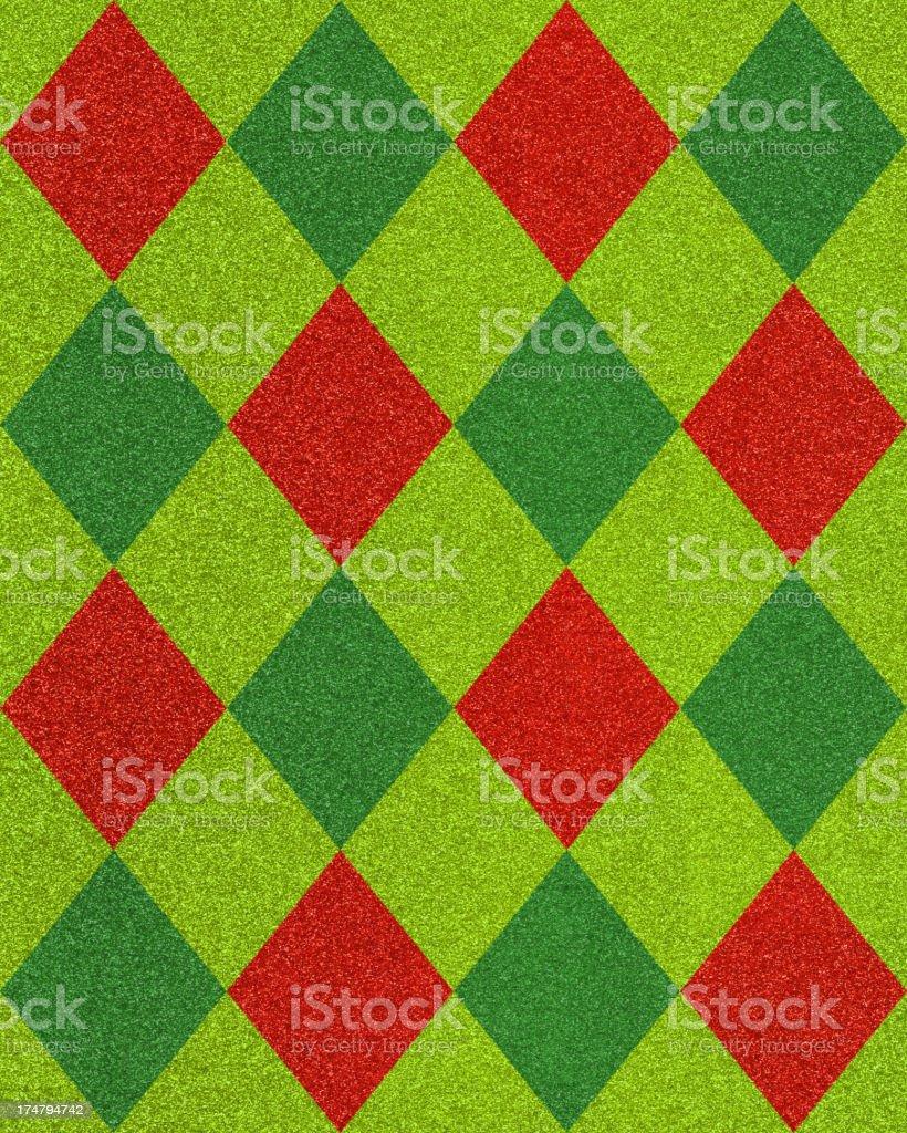 diamond pattern glitter paper stock photo