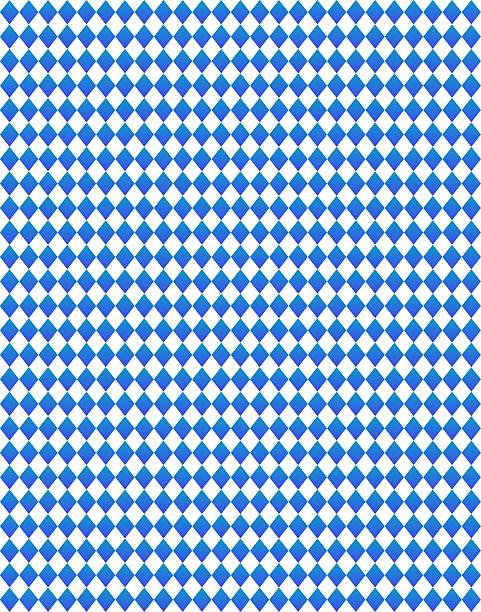 Diamond pattern in dark blue and white stock photo
