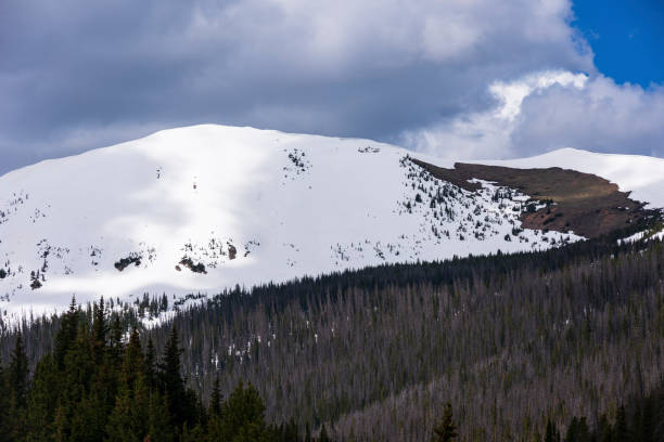 Diamond Peak is located in Roosevelt National Forest, Colorado. stock photo