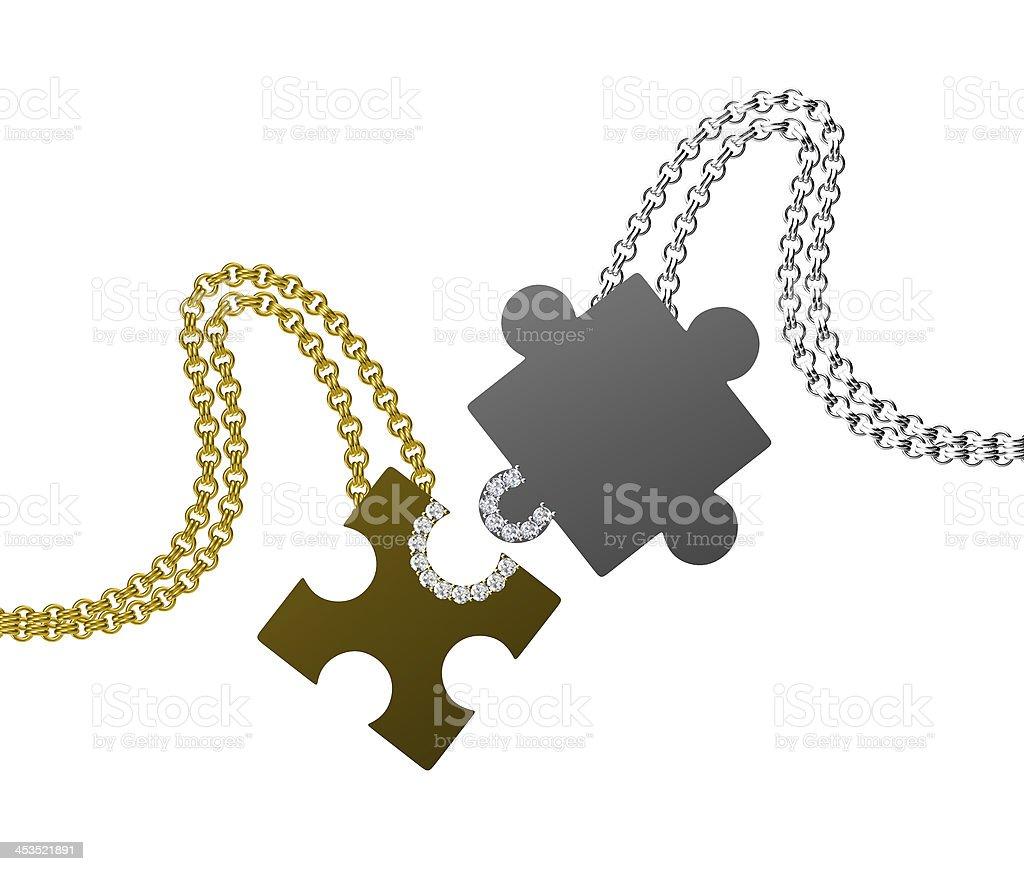 Diamond Pendant isolated on white background royalty-free stock photo