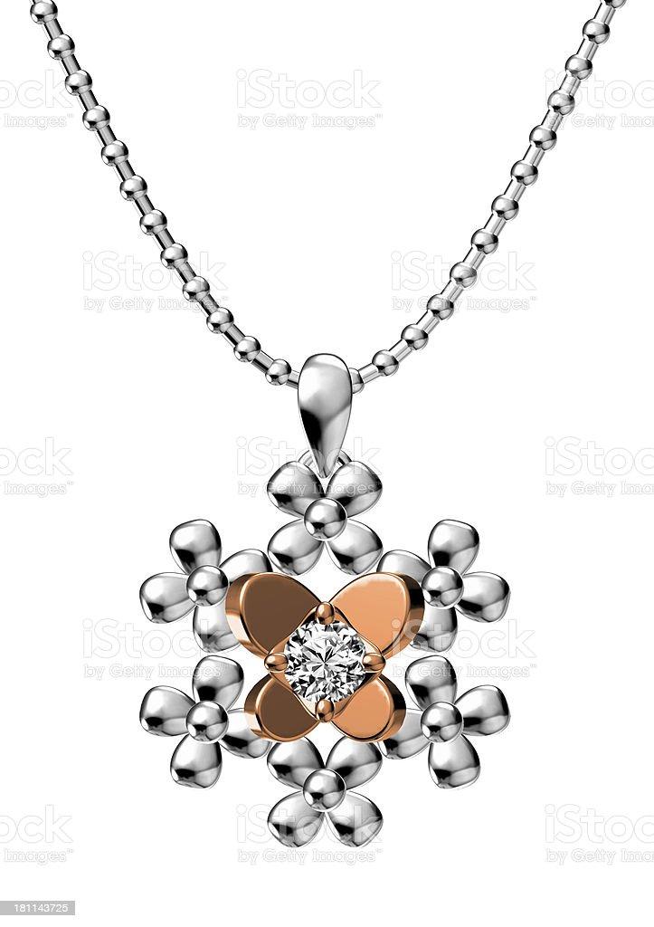 Diamond  Pendant royalty-free stock photo