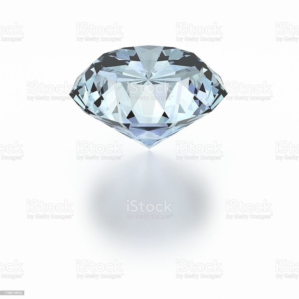 3D Diamond royalty-free stock photo