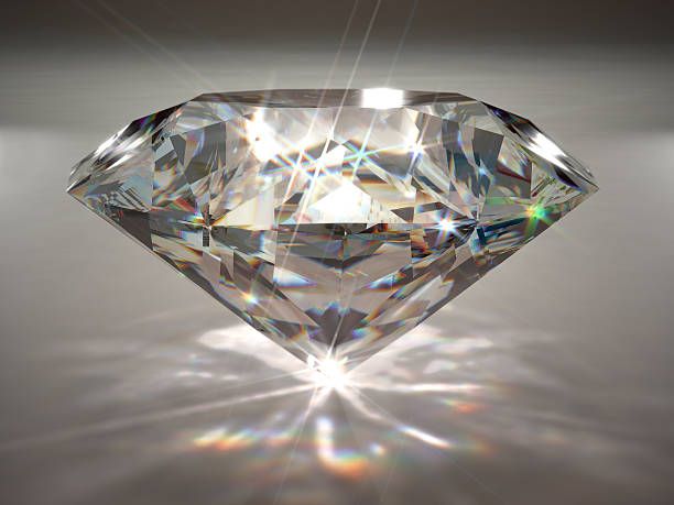 Diamond A large diamond with spectral dispersion effect. Very high resolution 3D render with slight DOF blur. precious gem stock pictures, royalty-free photos & images