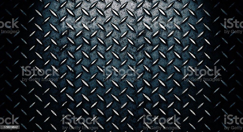 Diamond plate metal steel grunge texture - XXXL royalty-free stock photo