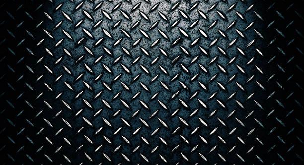 diamond plate metal steel grunge texture - xxxl - diamond plate background stock photos and pictures