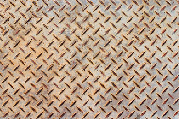 Diamond plate rust stock photo