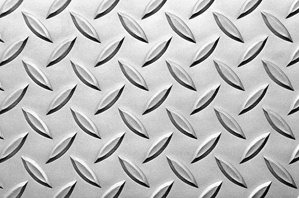 diamond plate steel background - diamond plate background stock photos and pictures