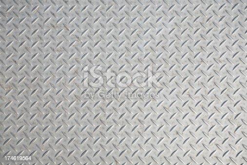 Close-up on diamond plate texture.