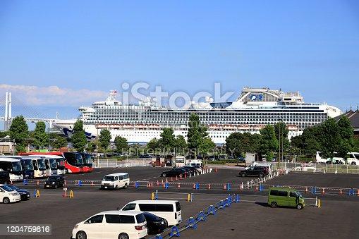 istock Diamond Princess (cruise ship) at Port of Yokohama 1204759816