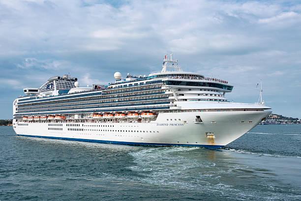 Diamond Princess Cruise Ship stock photo
