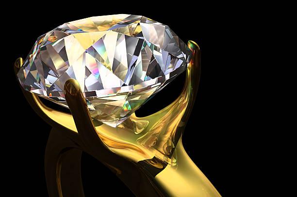 Diamond RIng 3D stock photo