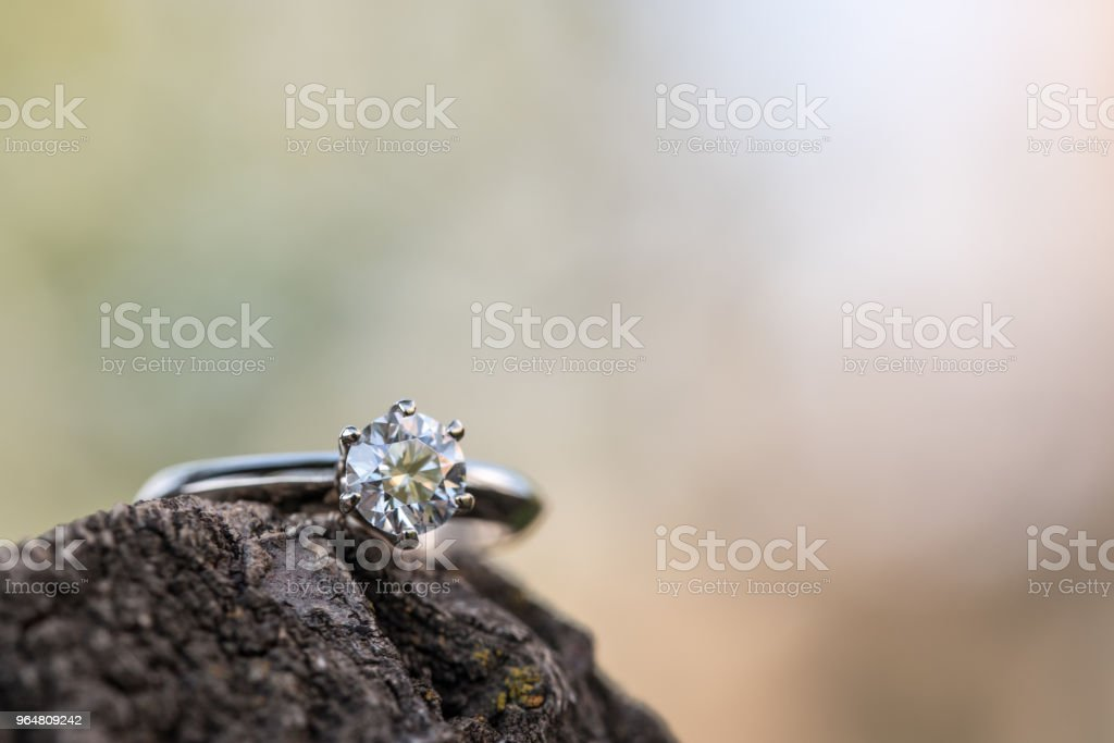Diamond Ring Close up royalty-free stock photo