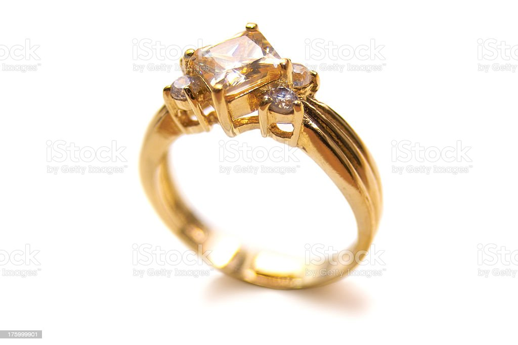 Diamond Ring Macro royalty-free stock photo