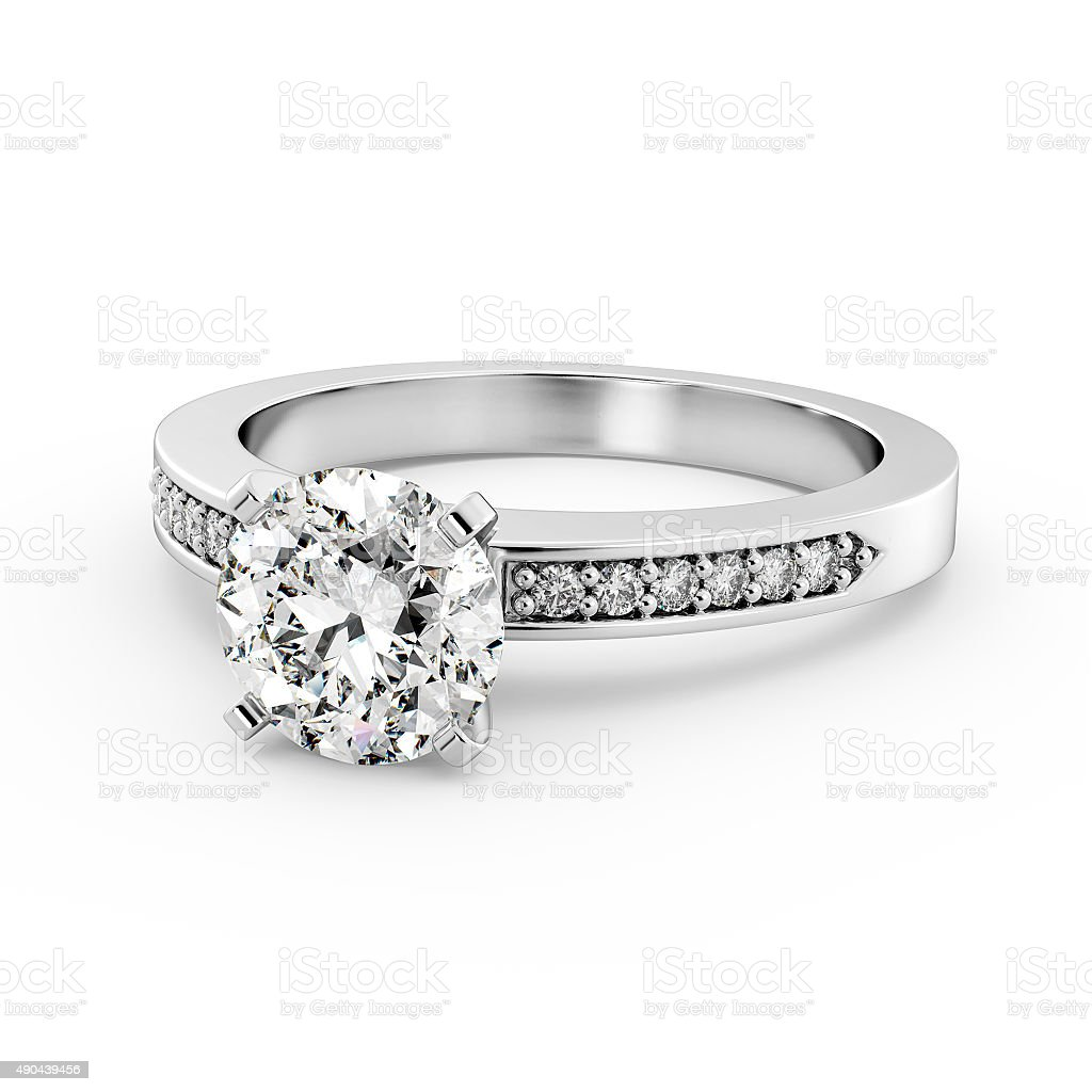 Diamond Ring Model 6 - Laying Down stock photo