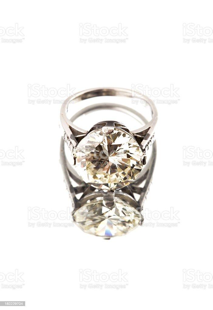 diamond ring (xxxl) royalty-free stock photo