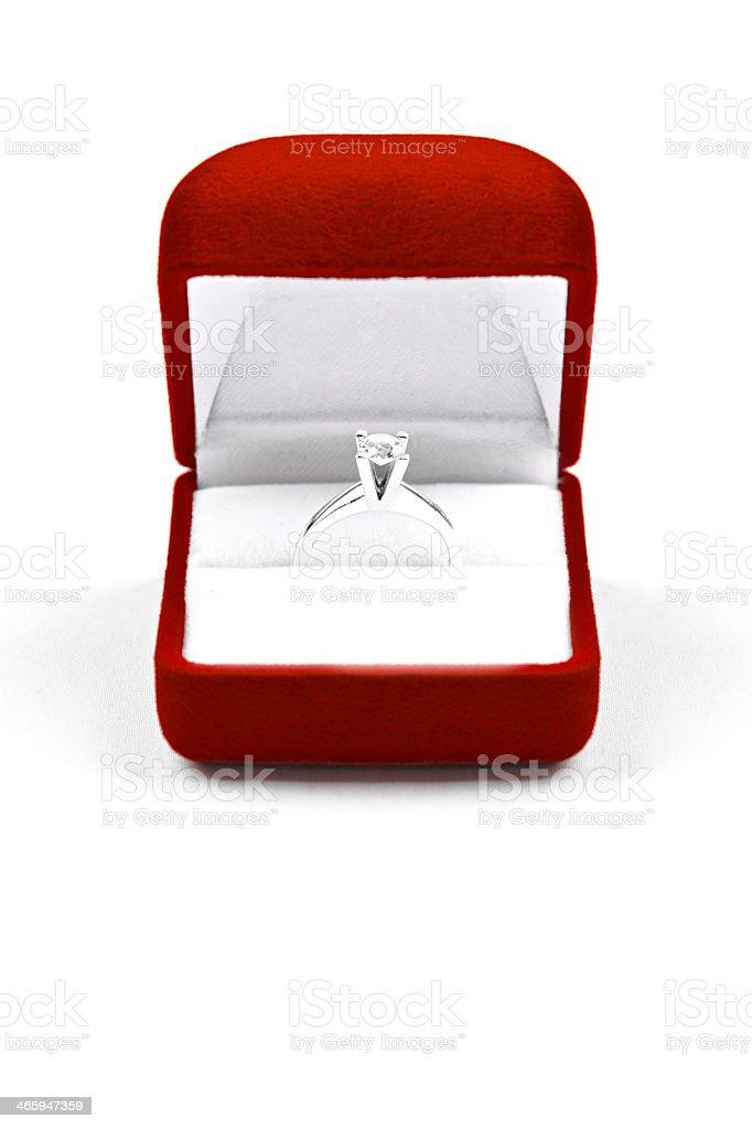 Anillo de diamante - foto de stock