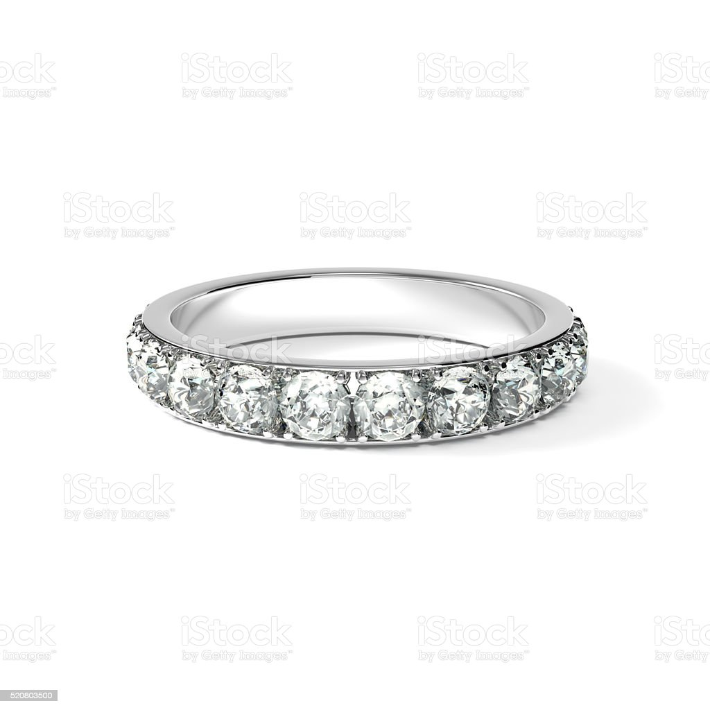 Diamond Ring White Background Stock Photo Download Image Now