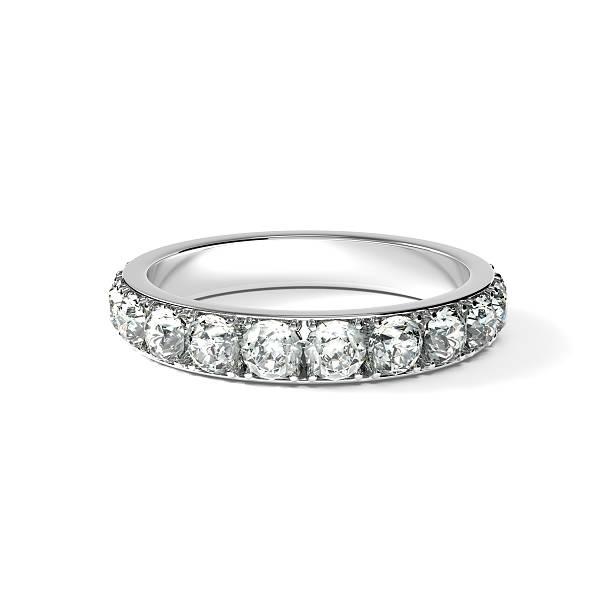 Diamond Ring, White Background stock photo