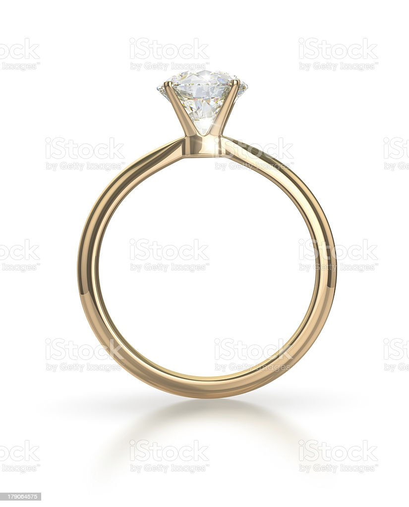 Diamond ring with clipping path stock photo