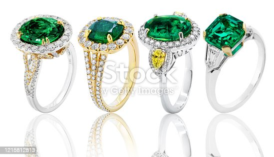 diamond rings with emerald, wedding jewelry engagement with gem and gemstone